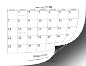 2018_Bottom_Month calendar