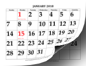picture about Www.printablecalendars.com � Www.freeprintable.net identified as Printable 2018 Calendar